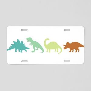 Prehistoric Medley Border Aluminum License Plate