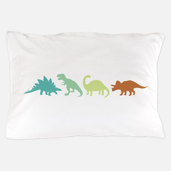 Prehistoric Medley Border Pillow Case