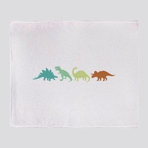 Prehistoric Medley Border Throw Blanket