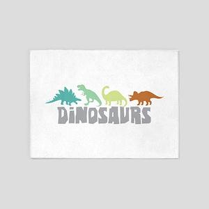 Dinosaurs 5'x7'Area Rug