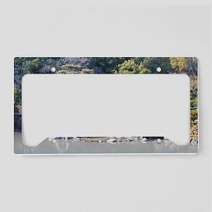 Landscaped Oriental garden License Plate Holder