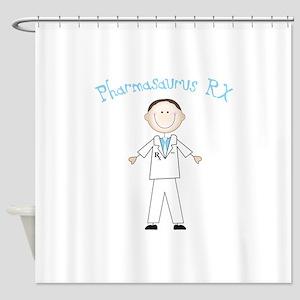 Pharmasaurus RX Shower Curtain