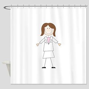 Female Pharmacist Shower Curtain