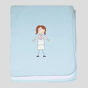 Female Pharmacist baby blanket