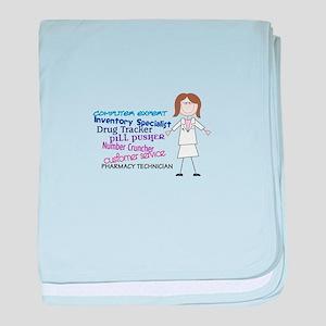 PHARMACY TECHNICIAN baby blanket