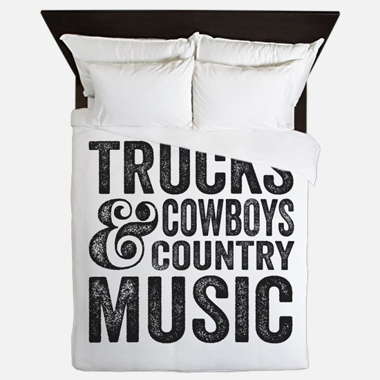Trucks Cowboys and Country Music Queen Duvet