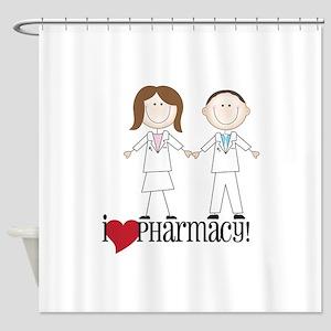 i Love PHarmacy! Shower Curtain