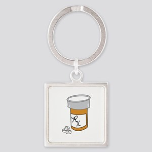 Pill Bottle Keychains