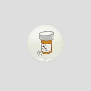 Pill Bottle Mini Button