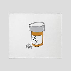 Pill Bottle Throw Blanket