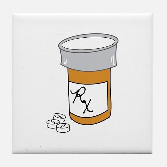 Pill Bottle Tile Coaster