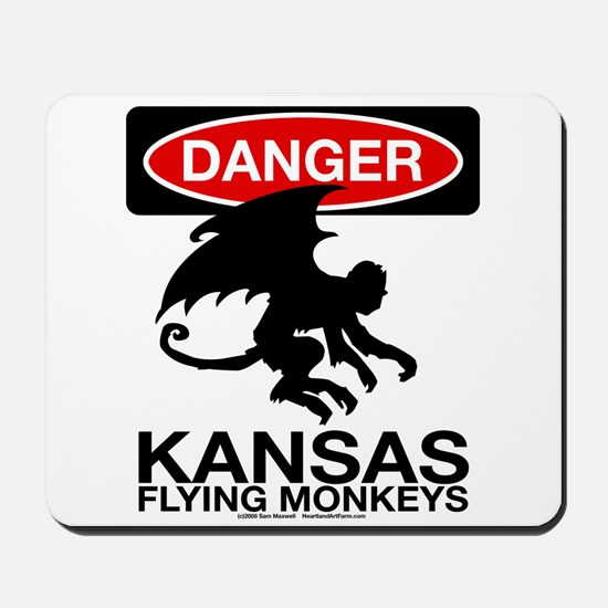 Danger: Flying Monkeys! Mousepad
