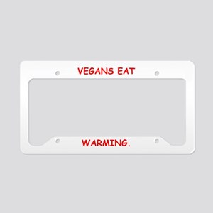 climate change License Plate Holder