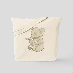 Sad Praying Elephant Tote Bag
