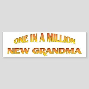 One In A Million New Grandma Bumper Sticker