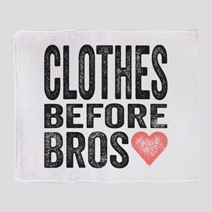 Clothes Before Bros Throw Blanket