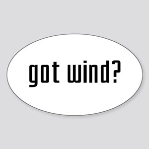 Got Wind? Oval Sticker