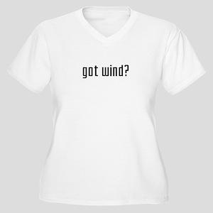 Got Wind? Women's Plus Size V-Neck T-Shirt
