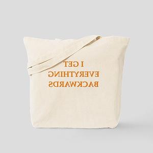 backwards Tote Bag
