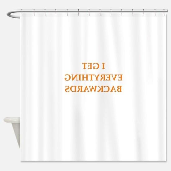 backwards Shower Curtain