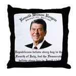 Reagan Republicans vs. Democrats Throw Pillow