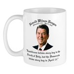 Reagan Republicans vs. Democrats Mug