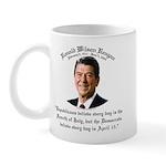 Reagan Republicans vs. Democrats Mug