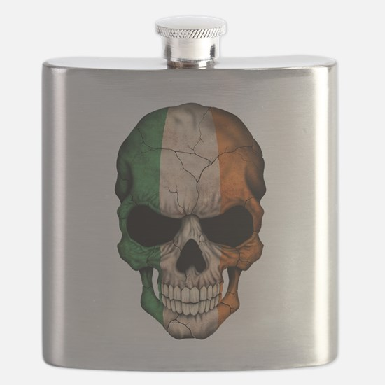 Irish Flag Skull Flask