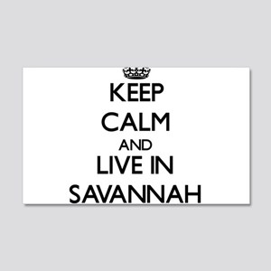 Keep Calm and live in Savannah Wall Decal