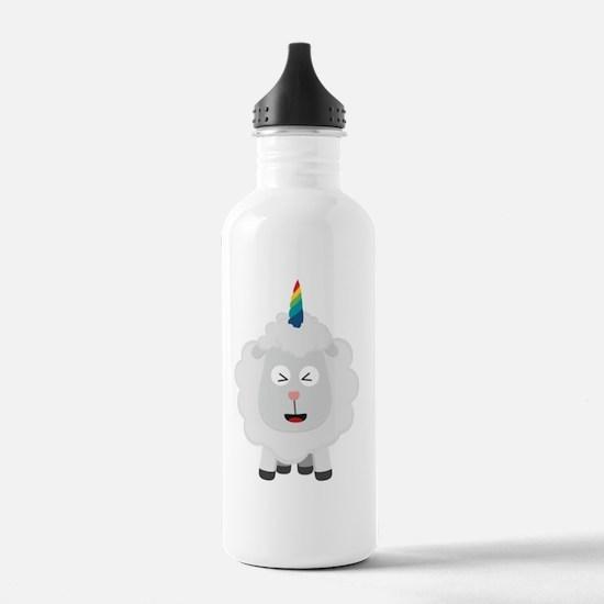 Unicorn Sheep with rai Water Bottle