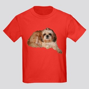 It's all about the Shih Tzu. Kids Dark T-Shirt