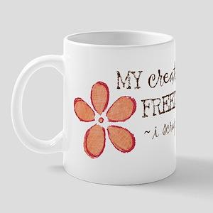 My creative FREEDOM i scrapbook (orange) Mug