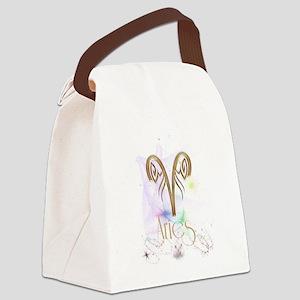 Aries Zodiac Sign Canvas Lunch Bag