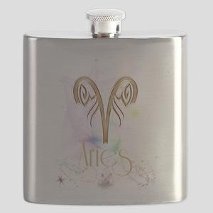 Aries Zodiac Sign Flask