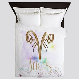 Aries Zodiac Sign Queen Duvet