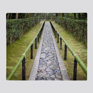 Koto-in Daitoku-ji temple path Throw Blanket
