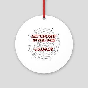 Spiderman - Web - Date Ornament (Round)