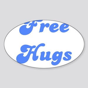 FREE HUGS Oval Sticker