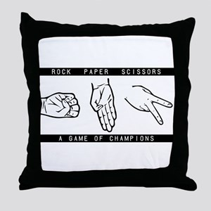 Rock Paper Scissors (RPS) Throw Pillow