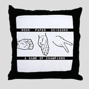 Rock Paper Scissors (RPS) Throw Pillow