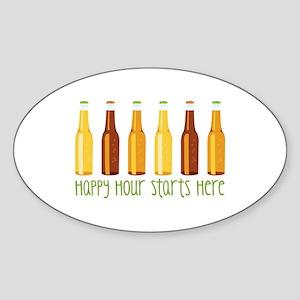 Happy Hour Starts Here Sticker