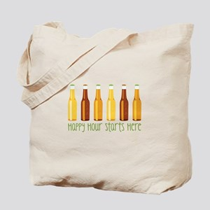 Happy Hour Starts Here Tote Bag