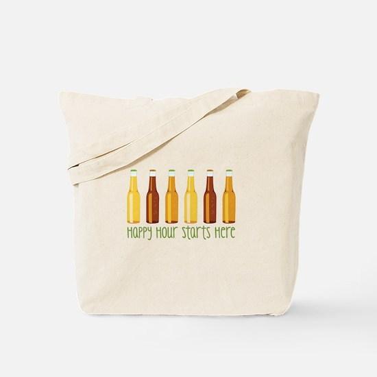 Happy Hour Starts Here Tote Bag