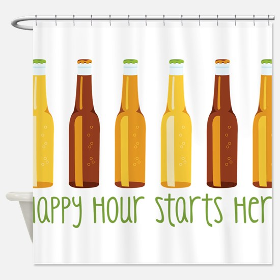 Happy Hour Starts Here Shower Curtain