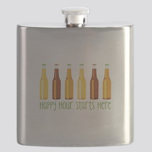 Happy Hour Starts Here Flask