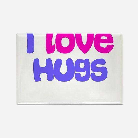 I LOVE HUGS Rectangle Magnet