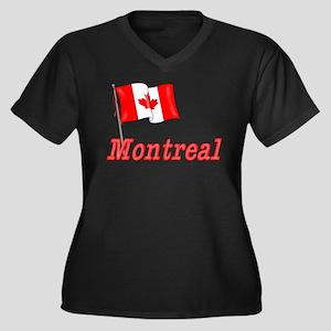 Canada Flag - Montreal Text Women's Plus Size V-Ne
