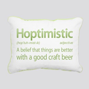 Hoptimistic Beer Rectangular Canvas Pillow