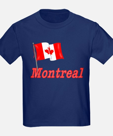 Canada Flag - Montreal Text T