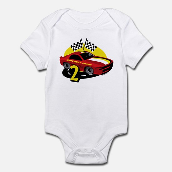 Race Car 2nd Birthday Infant Bodysuit